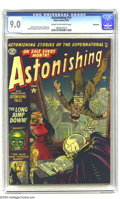 Golden Age (1938-1955):Horror, Astonishing #14 Bethlehem pedigree (Atlas, 1952) CGC VF/NM 9.0Cream to off-white pages. When plummeting to your death isn't...