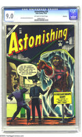 Golden Age (1938-1955):Horror, Astonishing #36 Bethlehem pedigree (Atlas, 1954) CGC VF/NM 9.0Off-white to white pages. Dave Berg and Paul Reinman art. Thi...