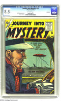 Golden Age (1938-1955):Horror, Journey Into Mystery #25 Bethlehem pedigree (Atlas, 1955) CGC VF+8.5 Off-white pages. Joe Sinnott and Dick Ayers art. This ...
