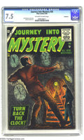 Silver Age (1956-1969):Horror, Journey Into Mystery #35 Bethlehem pedigree (Atlas, 1956) CGC VF- 7.5 Off-white to white pages. Paul Reinman, John Forte, an...