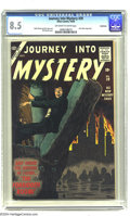 Silver Age (1956-1969):Horror, Journey Into Mystery #39 Bethlehem pedigree (Atlas, 1956) CGC VF+8.5 Off-white to white pages. Wally Wood and Dick Ayers ar...