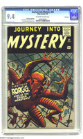 Silver Age (1956-1969):Horror, Journey Into Mystery #64 Bethlehem pedigree (Atlas, 1961) CGC NM9.4 Off-white to white pages. Jack Kirby could draw a monst...