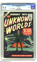 Silver Age (1956-1969):Horror, Journey Into Unknown Worlds #43 Bethlehem pedigree (Atlas, 1956)CGC VF/NM 9.0 White pages. The cover is by Sol Brodsky; the...