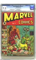 Golden Age (1938-1955):Superhero, Marvel Mystery Comics #7 (Timely, 1940) CGC VF- 7.5 Cream to off-white pages. The Human Torch wades into dangerous waters in...