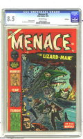 Golden Age (1938-1955):Horror, Menace #8 Bethlehem pedigree (Atlas, 1953) CGC VF+ 8.5 Off-whitepages. Russ Heath 3-D art. Other artists include Joe Maneel...