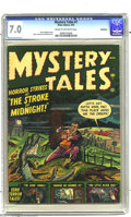 Golden Age (1938-1955):Horror, Mystery Tales #1 Bethlehem pedigree (Atlas, 1952) CGC FN/VF 7.0Cream to off-white pages. The gent on the cover obviously is...