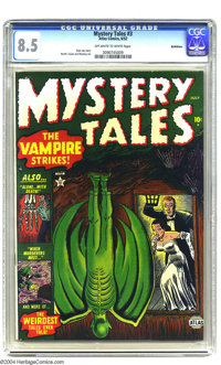 Mystery Tales #3 Bethlehem pedigree (Atlas, 1952) CGC VF+ 8.5 Off-white to white pages. Russ Heath, Gene Colan, and Jim...