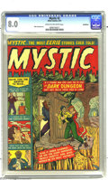 "Golden Age (1938-1955):Horror, Mystic #2 Bethlehem pedigree (Atlas, 1951) CGC VF 8.0 Cream tooff-white pages. To paraphrase the cover blurb, ""Have you the..."