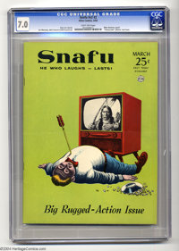Snafu V2#2 (Atlas, 1956) CGC FN/VF 7.0 Light tan pages. This seldom-seen and short-lived humor title is famous for featu...