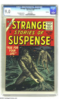 Silver Age (1956-1969):Horror, Strange Stories of Suspense #10 Bethlehem pedigree (Atlas, 1956)CGC VF/NM 9.0 White pages. These tales of suspense had read...