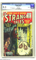 Golden Age (1938-1955):Horror, Strange Tales #37 Bethlehem pedigree (Atlas, 1955) CGC VF+ 8.5White pages. Jack Katz and Dick Ayers art. Sol Brodsky cover....