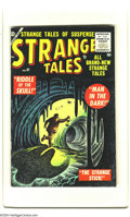Golden Age (1938-1955):Horror, Strange Tales #41 Bethlehem pedigree (Atlas, 1955) Condition: VF+.White pages. Joe Maneely cover. Bill Everett, Dick Ayers,...
