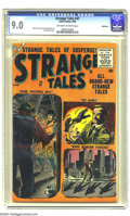 Silver Age (1956-1969):Horror, Strange Tales #47 (Atlas, 1956) CGC VF/NM 9.0 Off-white to whitepages. Leaving nothing to chance, this horror mag's cover s...