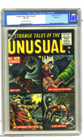 Golden Age (1938-1955):Horror, Strange Tales of the Unusual #1 Bethlehem pedigree (Atlas, 1955)CGC VF- 7.5 Off-white to white pages. Joe Maneely cover. Ar...
