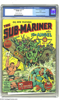 Sub-Mariner Comics #1 Larson pedigree (Timely, 1941) CGC VF/NM 9.0 Off-white to white pages. Timely's aquatic anti-hero...