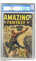 Silver Age (1956-1969):Superhero, Amazing Fantasy #15 (Marvel, 1962) CGC VG+ 4.5 Off-white pages. InOverstreet's ranking of the top ten most valuable Silver ...
