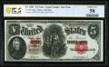 Large Size:Legal Tender Notes, Fr. 85* $5 1907 Legal Tender PCGS Banknote Choice AU 58.. ...