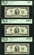 Small Size:Federal Reserve Notes, Fr. 1935-B*; E*; G*; J*; K*; L* $2 1976 Federal Reserve Star Notes. PCGS Graded Choice About New 55-Very Choice New 64PPQ.. ... (Total: 6 notes)