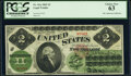 Large Size:Legal Tender Notes, Fr. 41a $2 1862 Legal Tender PCGS Choice New 63.. ...