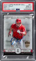 2015 Topps Museum Collection Mike Trout Red Autograph #51 PSA Mint | Lot  #57086 | Heritage Auctions