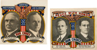 Cox & Roosevelt and Harding & Coolidge: Matched Pair of Jugate Window Decals