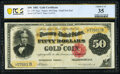 Large Size:Gold Certificates, Fr. 1197 $50 1882 Gold Certificate PCGS Banknote Choice Very Fine 35.. ...