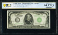 Small Size:Federal Reserve Notes, Fr. 2212-G $1,000 1934A Federal Reserve Note. PCGS Banknote Choice UNC 64 PPQ.. ...