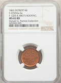 1863 Token F. Geis & Bro's Roofing, Fuld-225AEa-2a, MS65 Red and Brown NGC. Detroit, MI. Ex: Donald G. Partrick Coll...