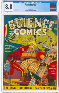 Science Comics #2 (Fox, 1940) CGC VF 8.0 Off-white to white pages