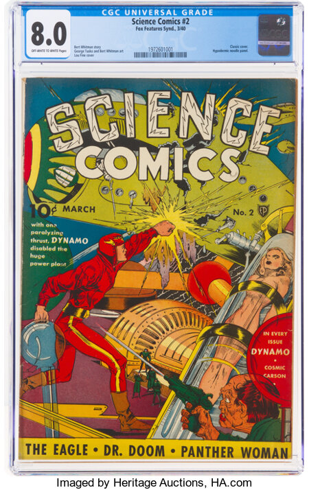 Science Comics #2 (Fox, 1940) CGC VF 8.0 Off-white to white pages....