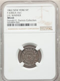 1862 Token J. H. Warner, Fuld-630CA-1fo1, MS65 NGC. New York, NY. Ex: Donald G. Partrick Collection