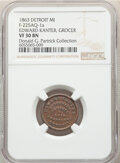 1863 Edward Kanter, Grocer, Civil War Store Card, Detroit, Michigan, Fuld-225AQ-1a, R.7, VF30 NGC. Ex: Donald G. Partric...