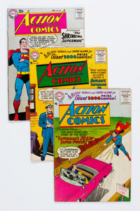 Action Comics Group of 6 (DC, 1956-62) Condition: Average VG+.... (Total: 6 )