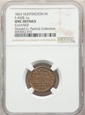 Civil War Merchants, 1863 Jesse W. Griffith, Drugs, Civil War Store Card, Huntington, Indiana, Fuld 430E-1a, R.6 -- Cleaned -- NGC Details. Unc.