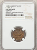 1863 E. & L. Small, Dry Goods, Civil War Store Card, Hagerstown, Indiana, Fuld-370A-4b, R.7 -- Cleaned -- NGC Detail...
