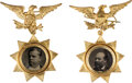 Political:Ferrotypes / Photo Badges (pre-1896), James A. Garfield and Winfield Scott Hancock: Matching Ferrotype Badges.... (Total: 2 Items)