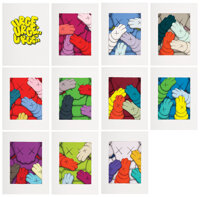 KAWS (b. 1974) URGE, 2020 Ten Screenprints in colors on Saunders Waterford paper 17 x 12 inches (
