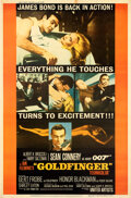 """Movie Posters:James Bond, Goldfinger (United Artists, 1964). Very Fine- on Linen. Poster (40"""" X 60.75"""") Style Y.. ..."""