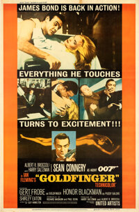 """Goldfinger (United Artists, 1964). Very Fine- on Linen. Poster (40"""" X 60.75"""") Style Y"""