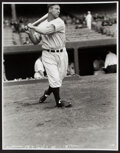 Baseball Collectibles:Photos, Lou Gehrig Swinging Oversized Modern Print - The Charles Conlon Collection. ...