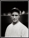 Baseball Collectibles:Photos, Lou Gehrig Close-Up Portrait Oversized Modern Print - The Charles Conlon Collection. ...