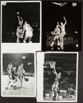 Basketball Collectibles:Photos, Jerry West Vintage Photographs, Lot of 4.... (Total: 4 items)