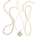 Estate Jewelry:Necklaces, Cultured Pearl, Gold Filled, Gold Necklaces. ... (Total: 3 Items)