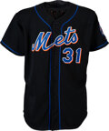 Baseball Collectibles:Uniforms, 2003 Mike Piazza Game Worn New York Mets Jersey with Steiner Sports COA....