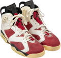 Basketball Collectibles:Others, 1991-92 Michael Jordan Game Worn & Signed Chicago Bulls Sneakers....