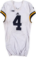 Football Collectibles:Uniforms, 2015 De'Veon Smith Game Worn, Unwashed, Signed & Inscribed Michigan Wolverines Jersey - Photo Matched to 11/21 vs. Penn State...