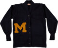 Football Collectibles:Uniforms, Circa 1940's Michigan Wolverines Letterman's Sweater....