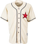 Baseball Collectibles:Uniforms, 2004 Ivan Rodriguez Game Worn & Signed Detroit Stars Negro League Throwback Jersey with Team Letter & COA. ...