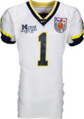 Football Collectibles:Uniforms, 2000 David Terrell Orange Bowl Worn & Unwashed Michigan Wolverines Jersey - 10 Catches, 150 Yards, 3 TD's & the MVP!...