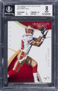 Football Cards:Singles (1970-Now), 2015 Immaculate Collection Jerry Rice (Platinum) #43 BGS NM-MT 8 - #'d 1/1....